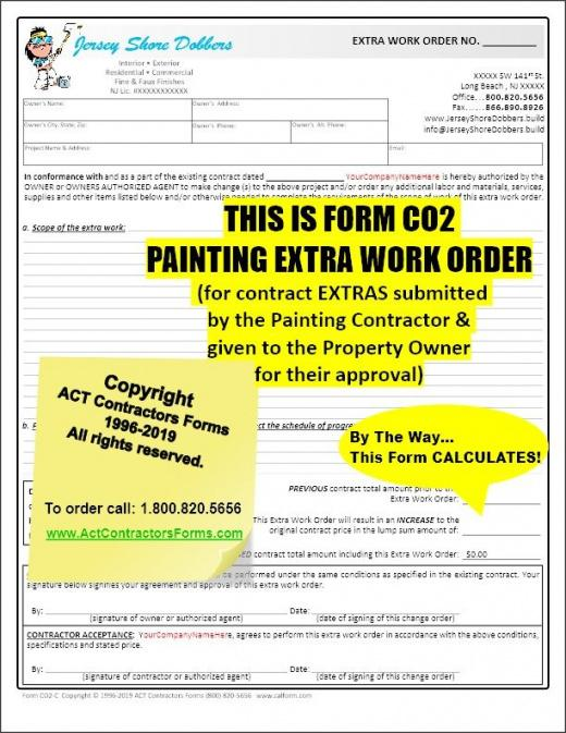 Printable Residential Painting Contract Template Pdf