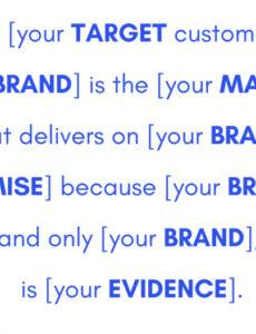 Professional Brand Positioning Statement Template  Sample