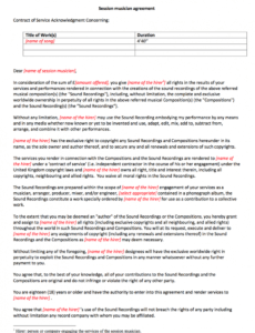 Professional Music Production Deal Contract Template  Example