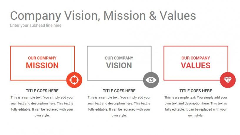 Professional Vision And Mission Statement Template Word Example