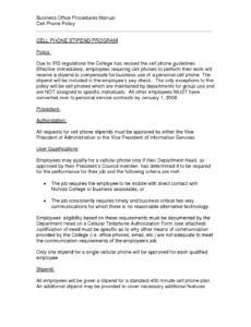 Professional Acceptable Use Policy Template Business Excel
