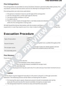 Professional Company Fire Safety Policy Template Doc Sample