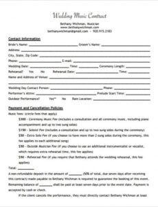 Professional Music Work For Hire Agreement Template Pdf Example