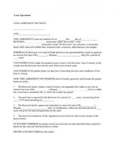 editable 40 free loan agreement templates word & pdf  templatelab personal money loan contract template sample