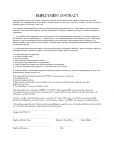 editable employment contract in word and pdf formats teacher employment contract template sample