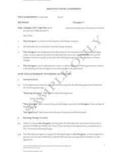 editable free 11 contract manufacturing agreement examples in pdf toll manufacturing agreement template example