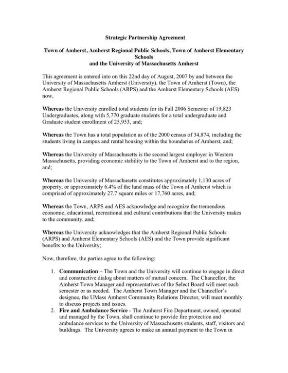 editable strategic partnership agreement in word and pdf formats partners contract template sample
