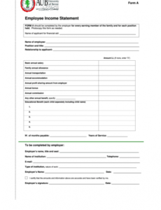 employee income statement template printable pdf download employee benefit statement template example