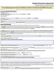 free 50 facility forms in pdf  ms word facility use agreement template word