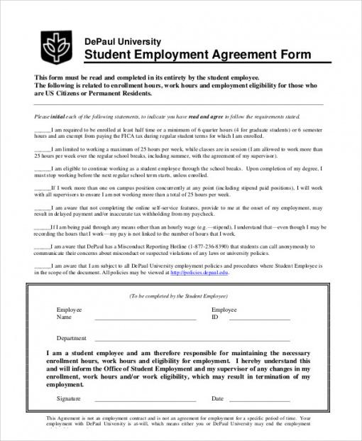 free free 12 student agreement contract samples in ms word teacher employment contract template doc