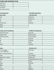 free personal financial statement template excel free personal investment policy statement template word