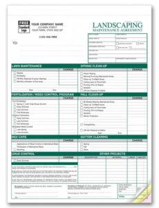 lawn care contract printable templates  joy studio design book option agreement template word
