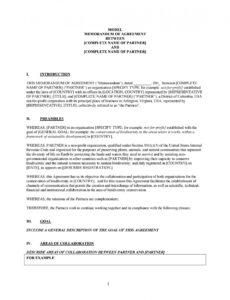 printable 40 free partnership agreement templates business general partners contract template sample