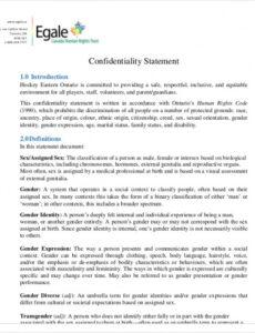 printable free 10 sample confidentiality statement templates in pdf professional disclosure statement template pdf