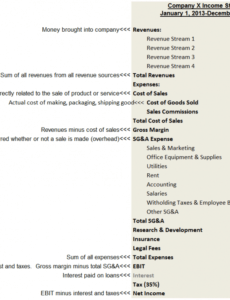 printable income statement basics  venture catalyst consulting income statement for manufacturing company template excel