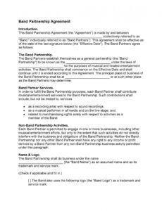 sample 40 free partnership agreement templates business general partners contract template word
