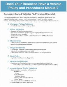 sample company vehicle policy template  letter example template company vehicle policy template