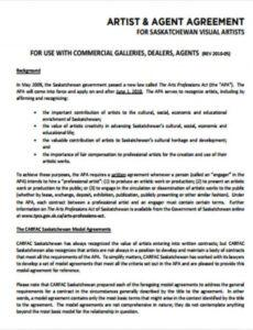 sample free 10 artist agreement contract samples in ms word booking agent contract template