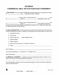 sample free wyoming commercial real estate purchase and sale georgia real estate contract template pdf