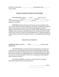 sample joint tenancy with right of survivorship form  fill joint tenancy agreement template