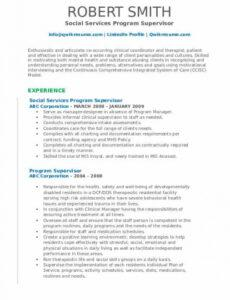 sample program supervisor resume samples  qwikresume counseling supervision contract template example