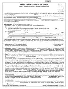 blank lease agreement free printable  free printable lease with option to buy contract template sample