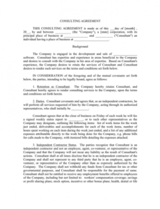 consulting agreement template in word and pdf formats hourly consultant contract template sample