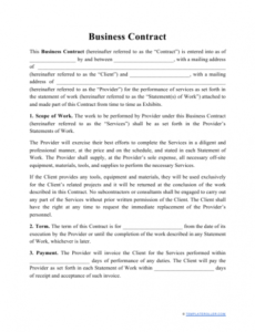 editable business contract template download printable pdf template for business agreement contract excel