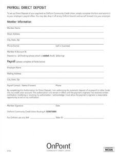 editable direct deposit agreement authorization form template deposit contract template excel