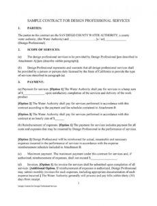 editable service agreement template doc ~ addictionary simple contract agreement template word