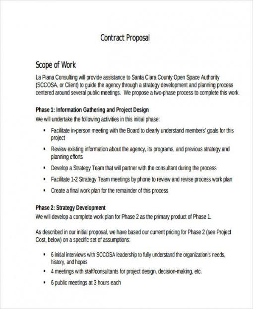 free 15 contract proposal examples in pdf  ms word  google grant agreement template doc