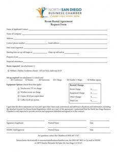 free 39 simple room rental agreement templates  templatearchive renting a room contract template word