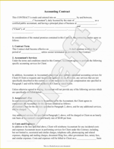 free free bookkeeping services agreement template of accounting accountant contract template word