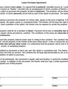 free lease purchase contract template lease with option to buy contract template example