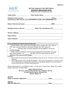 free legal payment agreement form  free printable documents contract forms template sample