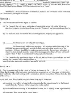 printable 4 property management agreement free download printable property management agreement template word