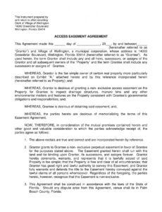 printable free 10 easement agreement contract forms in pdf grant agreement template