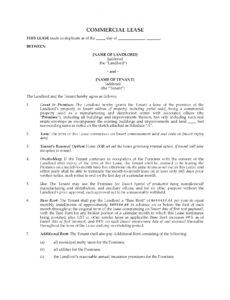 printable ontario commercial lease agreement for manufacturing corporate lease agreement template pdf