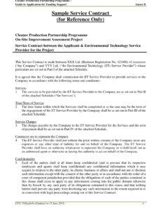 sample 11 service agreement contract template examples  pdf template for business agreement contract pdf