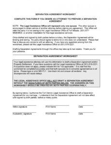 sample 43 official separation agreement templates  letters marital separation agreement template pdf