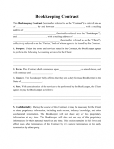 sample bookkeeping contract template download printable pdf accountant contract template sample