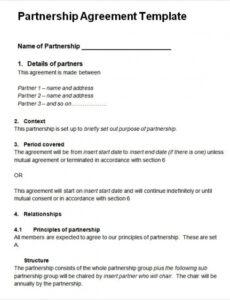 sample free 24 partnership agreement templates in google docs template for business agreement contract doc