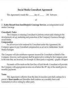 sample free 41 consulting agreement examples in pdf  ms word social media services contract template sample