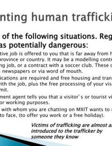 sample ppt  human trafficking powerpoint presentation free transport contract template south africa sample