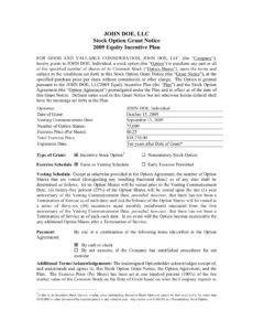 sample robby records music contracts stock option agreement startup template word