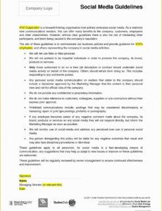 sample social media contract template free of social media social media services contract template example