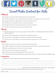 social media contract template for kids download printable social media services contract template doc
